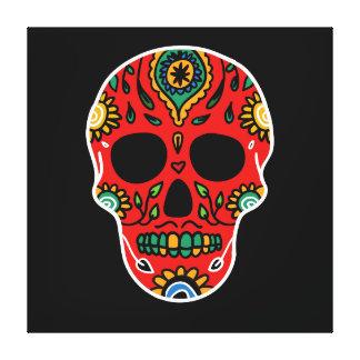 Mexican skull illustration canvas print