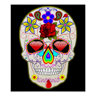mexican skull poster