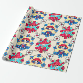 Mexican Skulls Wrapping Paper