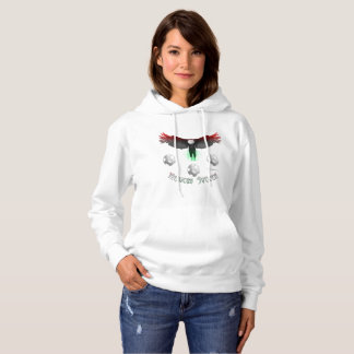 Mexican Soccer Eagle Ladies Hoodie