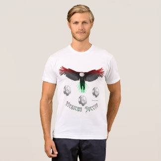Mexican Soccer Eagle Men's Poly-Cotton T-shirt