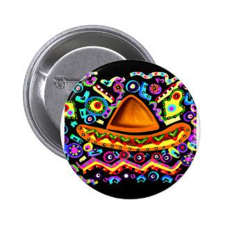 Mexican Sombrero 6 Cm Round Badge