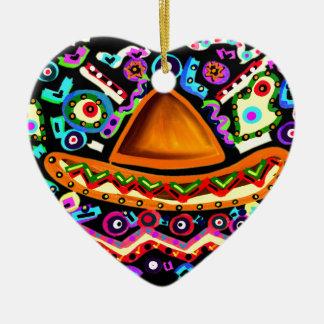 Mexican Sombrero Ceramic Ornament