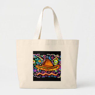 Mexican Sombrero Large Tote Bag