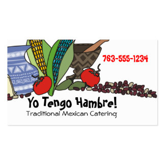Mexican Southwestern foods chef catering biz cards Pack Of Standard Business Cards