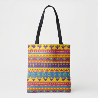 Mexican style tribal tote bag