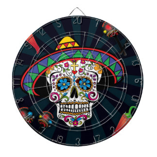 Mexican Sugar Skull Dartboard