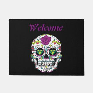 Mexican Sugar Skull Doormat