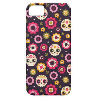 Mexican Sugar Skull Floral Pattern Barely There iPhone 5 Case