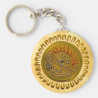 Mexican Sunbird Basic Round Button Key Ring