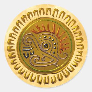 Mexican Sunbird Round Sticker