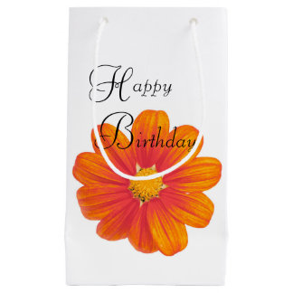 Mexican sunflower birthday bag