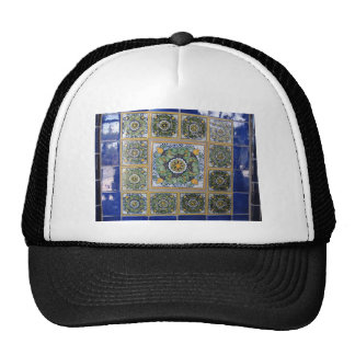 Mexican Talavera style tiles Mesh Hats