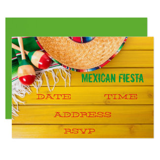 Mexican themed party Fiesta Card