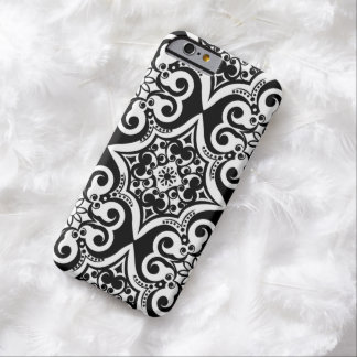 Mexican Tile Pattern | Black & White iPhone 6 Case