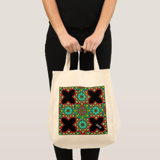 Mexican Tile Style Cross 2 Tote