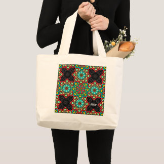 Mexican Tile Style Cross 3 Tote