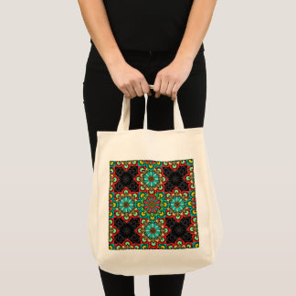 Mexican Tile Style Cross Tote
