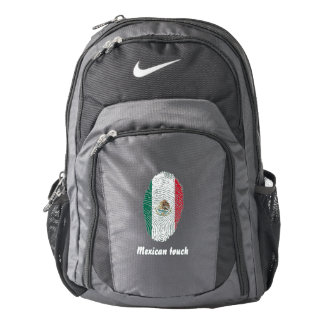 Mexican touch fingerprint flag backpack