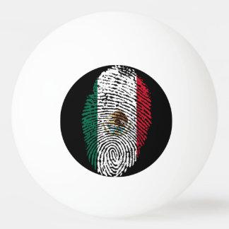 Mexican touch fingerprint flag ping pong ball
