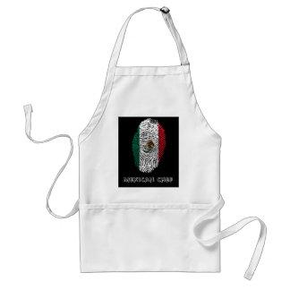 mexican touch fingerprint flag standard apron
