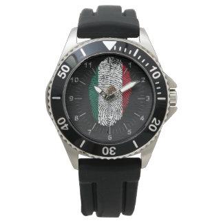 Mexican touch fingerprint flag watch
