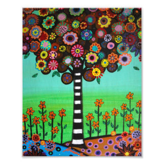 Mexican Tree of Life Flowers Painting Art Photo