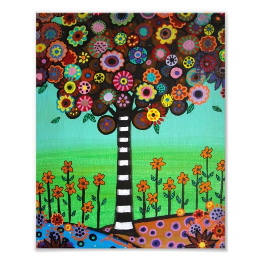 Mexican Tree of Life Flowers Painting Photograph
