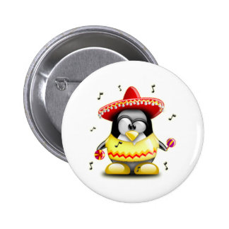 Mexican Tux Pinback Buttons