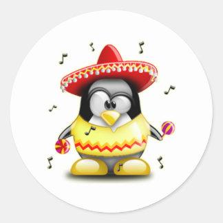 Mexican Tux Round Sticker