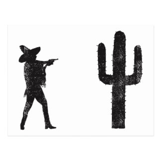Mexican vs Cactus Postcard