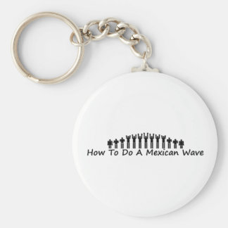 Mexican Wave Basic Round Button Key Ring