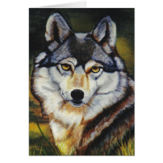 """""""Mexican Wolf"""" Greeting Card"""