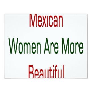"Mexican Women Are More Beautiful 4.25"" X 5.5"" Invitation Card"
