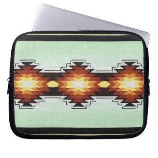 Mexico Aztec Tribal Turquoise Pattern Vector Laptop Sleeve