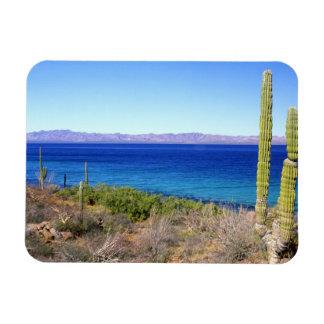 Mexico, Baja California Sur, Mulege, Bahia 2 Rectangular Photo Magnet