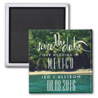Mexico Beach Wedding Save the Date Magnet