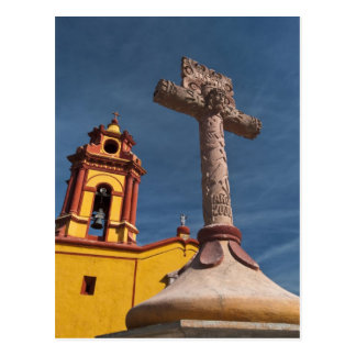 Mexico, Bernal. View of Iglesia de San Sebastian Postcard