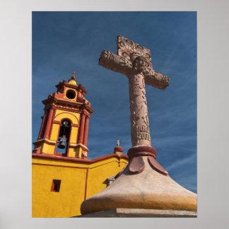 Mexico, Bernal. View of Iglesia de San Sebastian Poster