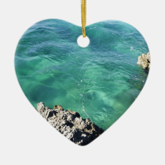 Mexico Blue/Green Ocean Ceramic Heart Decoration