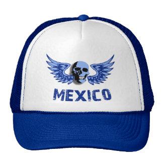 Mexico Blue Winged Skull Cap