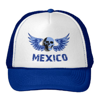Mexico Blue Winged Skull Hats