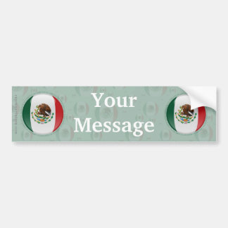 Mexico Bubble Flag Bumper Sticker