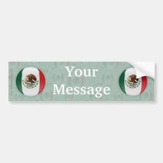 Mexico Bubble Flag Car Bumper Sticker