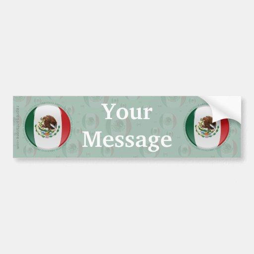Mexico Bubble Flag Bumper Sticker
