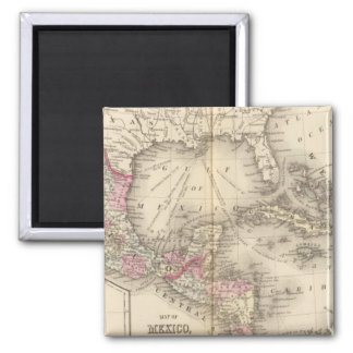 Mexico, Central America, West Indies Square Magnet