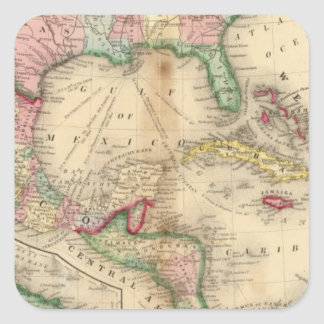 Mexico, Central America, West Indies Square Sticker