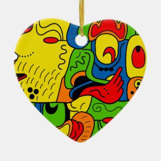 Mexico Ceramic Heart Decoration