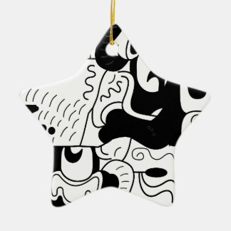 Mexico Ceramic Star Decoration