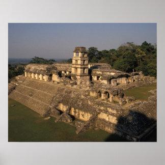 Mexico, Chiapas province,  Palenque, The Palace Poster